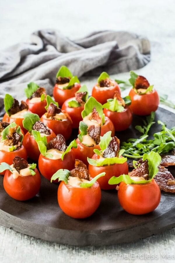 Mini BLT Cups healthy appetizers