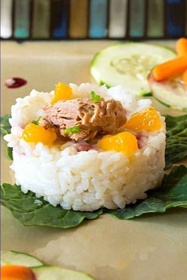 Skipjack Tuna Stack Appetizer