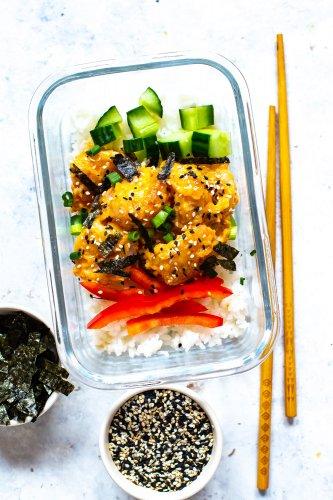 Meal Prep Dynamite Shrimp Sushi Bowl