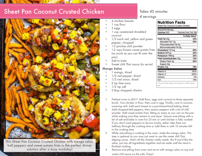 coconut crusted chicken preview