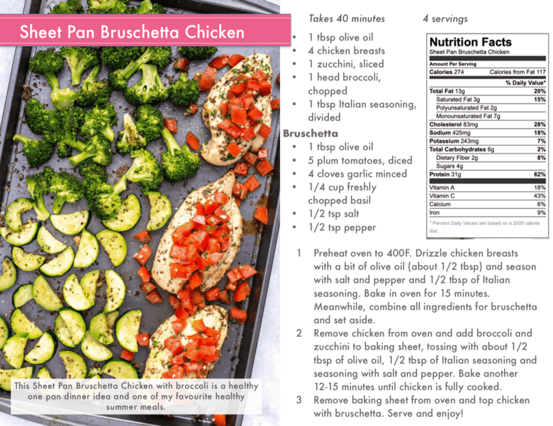 sheet pan bruschetta chicken preview