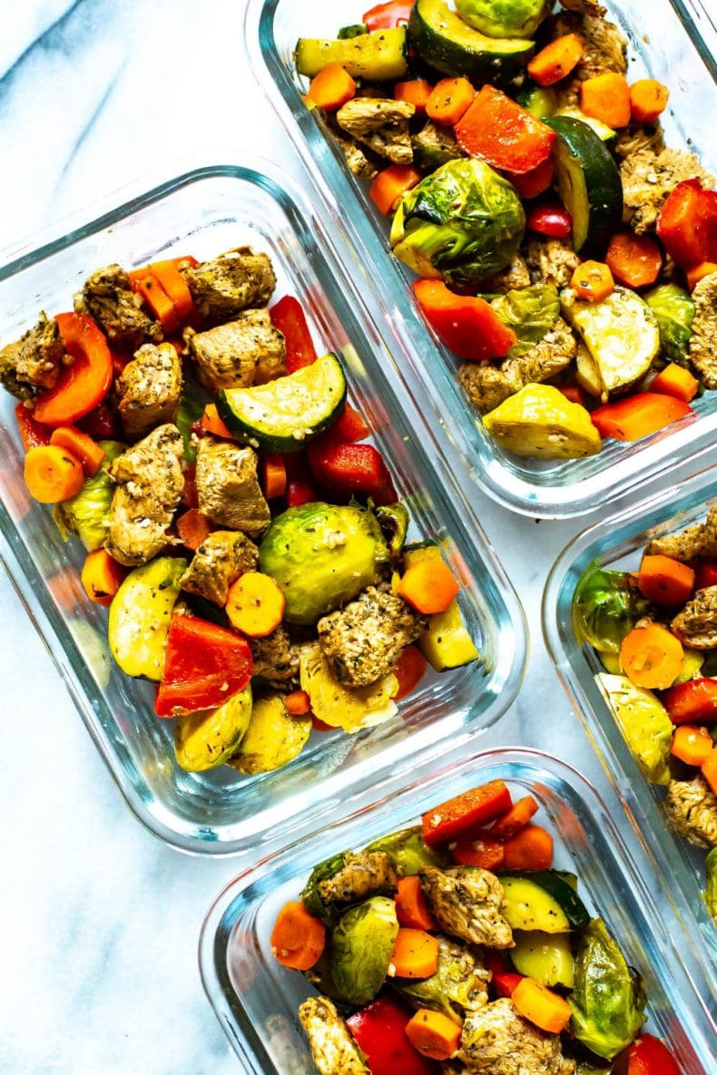Sheet Pan Balsamic Chicken meal prep dinner