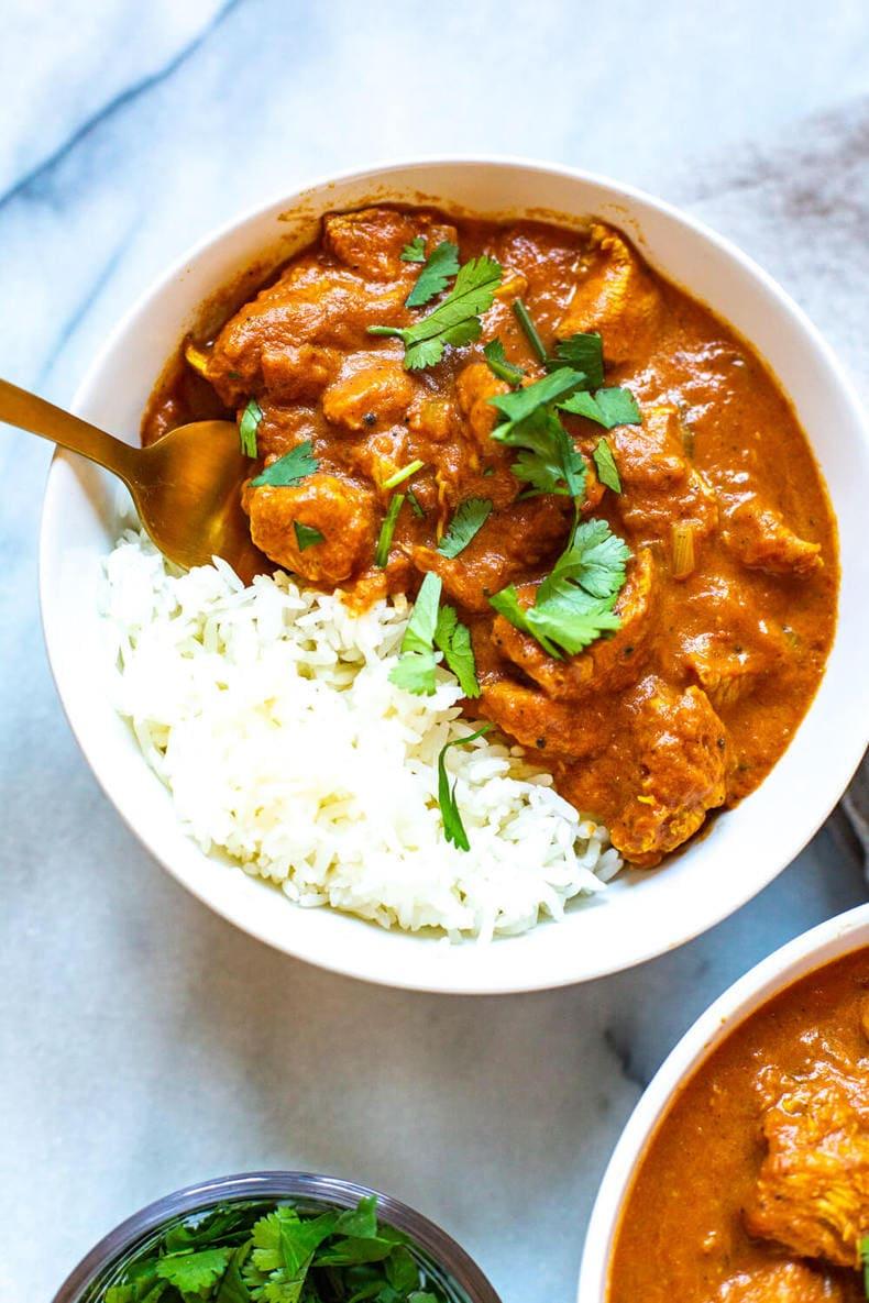 bowl of homemade Chicken Tikka Masala