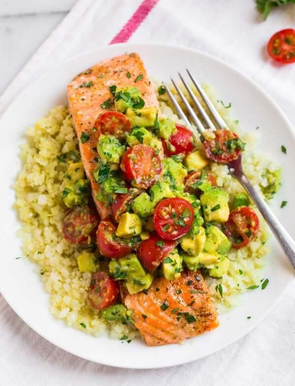 Whole30 Salmon with Avocado Sauce