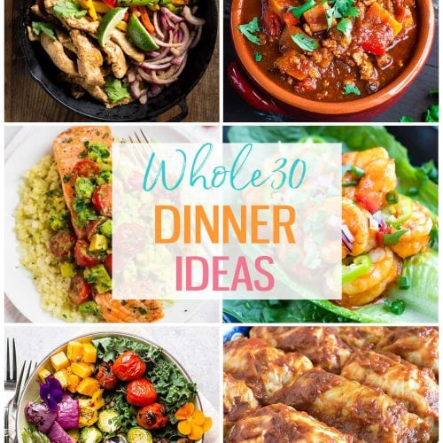 Whole30 Dinner Ideas photo collage