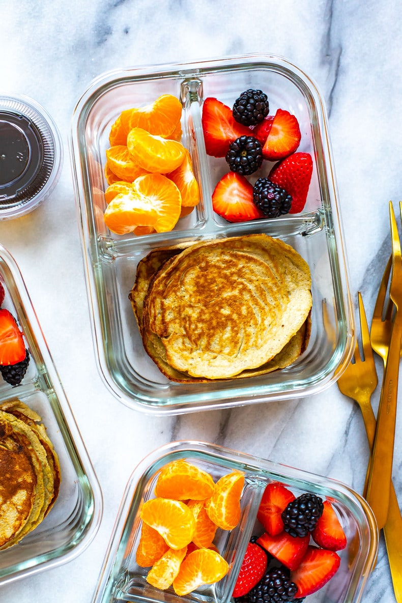 Meal Prep Banana Egg Pancakes