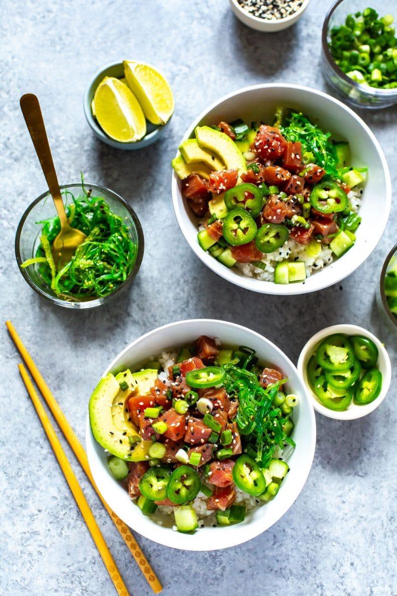 2 bowls of Ahi Tuna Poke