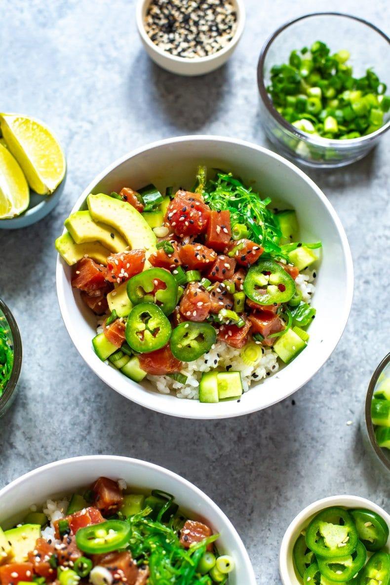 The Easiest 30 Minute Ahi Poke Bowl The Girl On Bloor