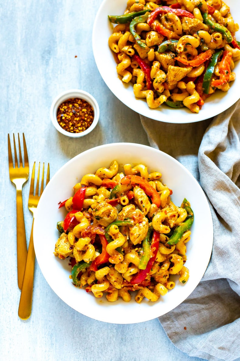Cajun Chicken Pasta recipe made with Scoobi Doo pasta