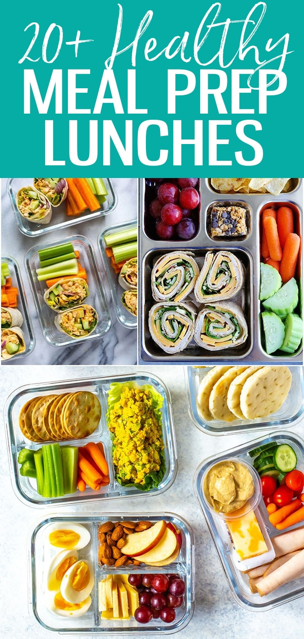 These Healthy Meal Prep Lunch Ideas for Work are the perfect way to stay on track with your weekly meal planning - these meal prep bowls are creative, delicious ways to stay organized during busy work weeks. (Article Updated January 2020) #mealprep #mealplan #lunchideas #healthyrecipes