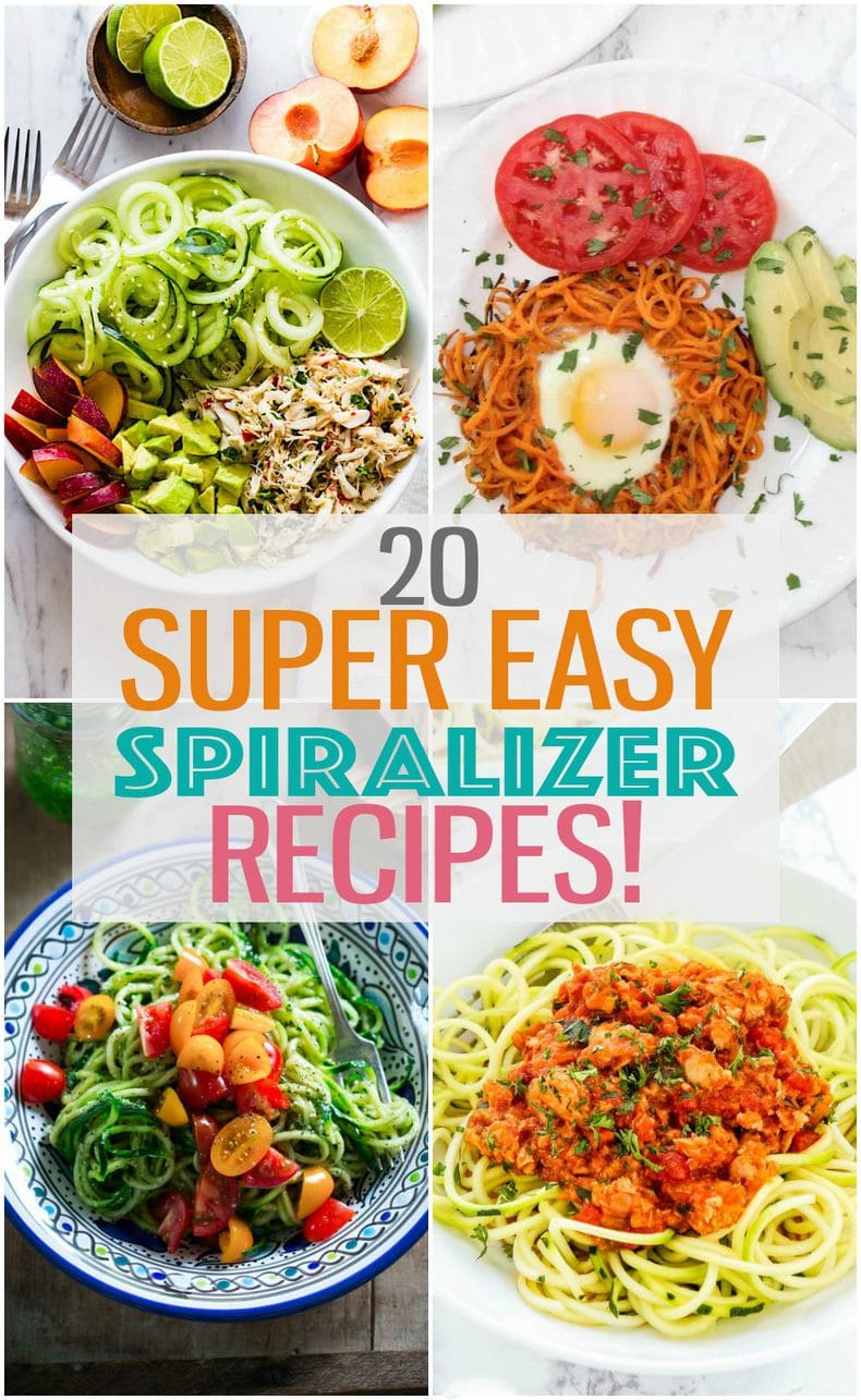spiralizer recipes photo collage