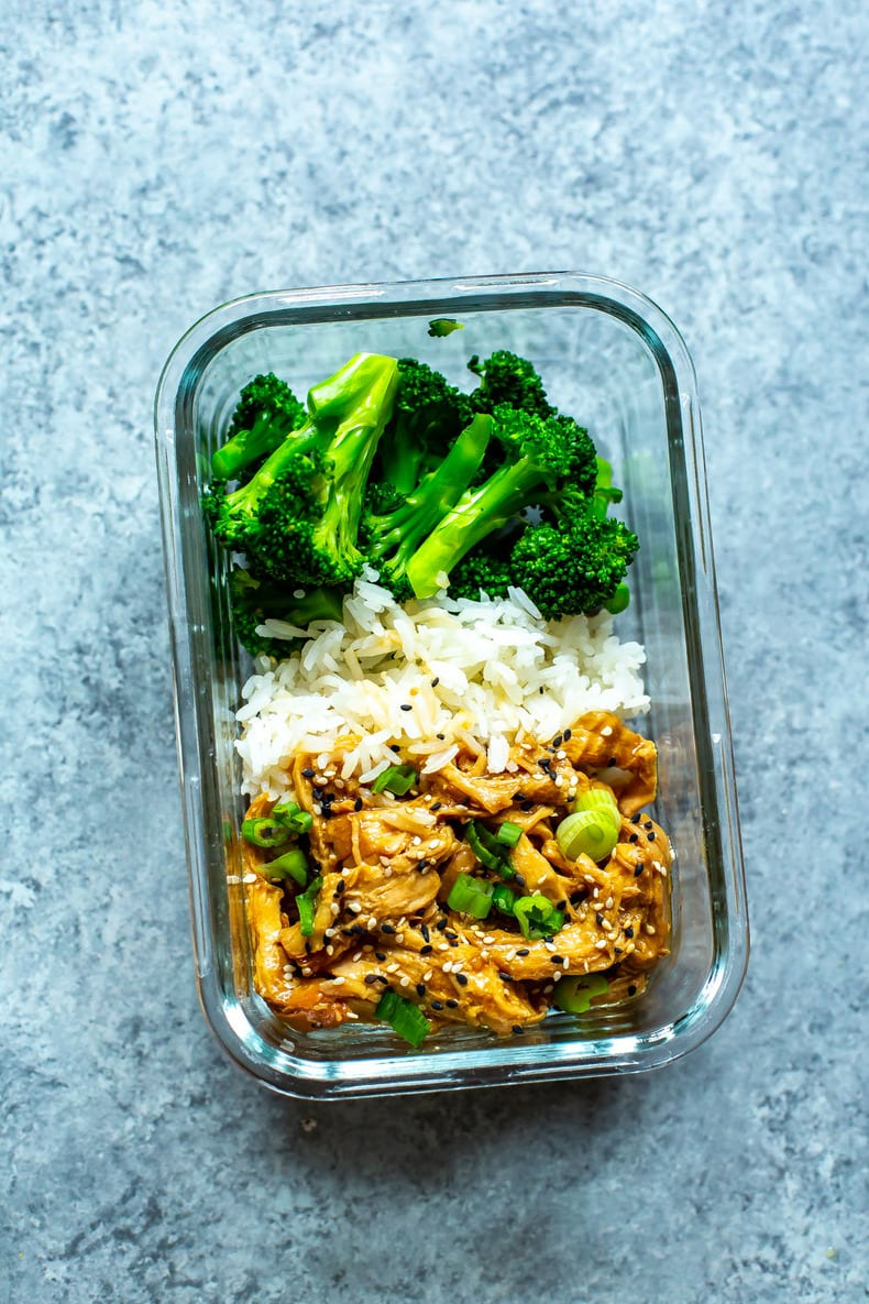 Chicken Teriyaki in glass meal prep container