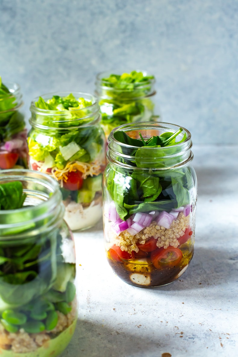 5 Mix and Match Mason Jar Salad Recipes for Easy Lunches