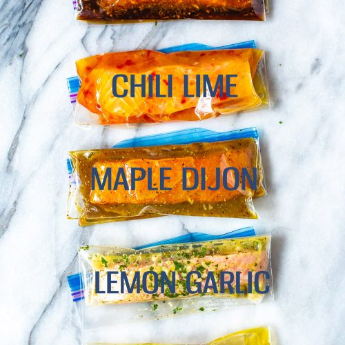 Salmon marinades