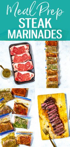These 8 Best Ever Steak Marinades are perfect for freezer meal prep and each of the marinades only contain 5 easy ingredients that you probably already have in your pantry! #steakmarinades #mealprep #freezerrecipes