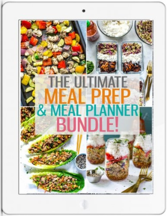 meal prep and meal planner bundle