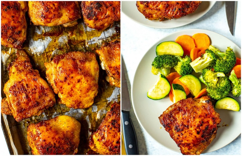 Perfect Baked Chicken Thighs