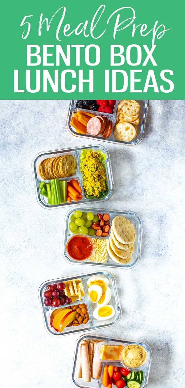 These Healthy Bento Lunch Box Recipes are perfect for back to school and are the equivalent of adult lunchables! Try pizza, turkey & hummus, egg & cheese and more! #bentolunch #bentobox #mealprep #lunchideas #backtoschool