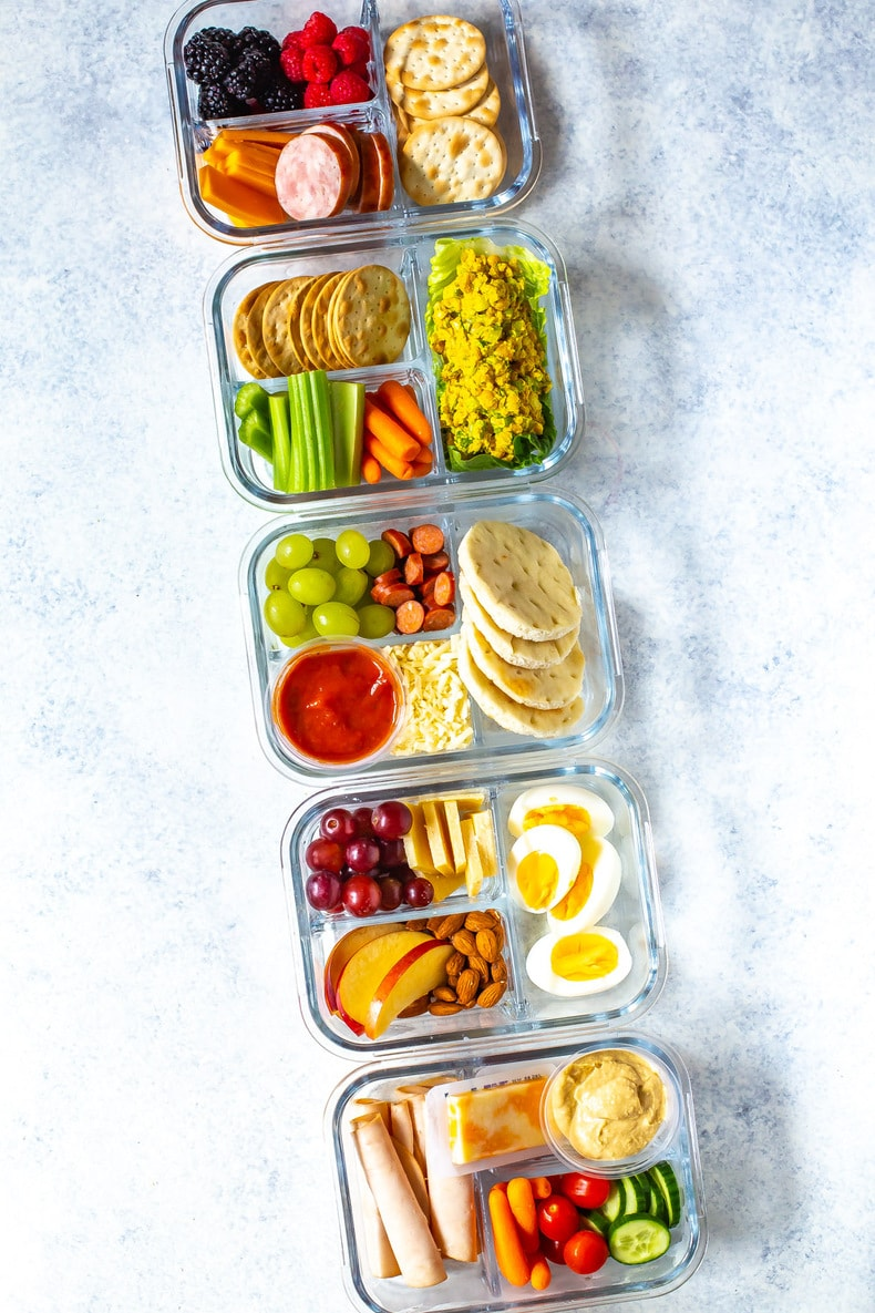 5 different meal prep lunch ideas