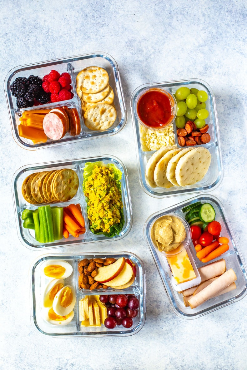 Healthy meal prep lunches