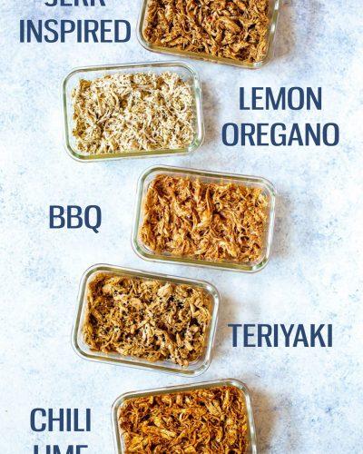 shredded chicken recipes collage