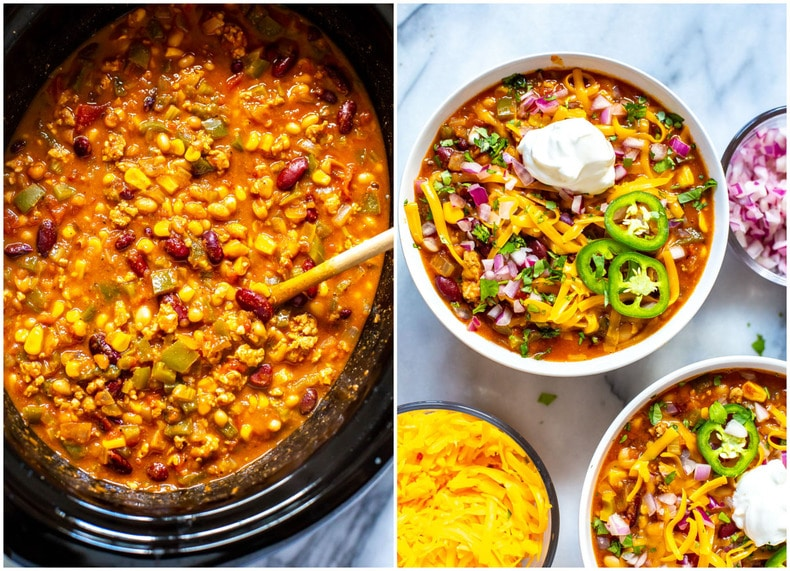 Healthy, Flavourful Slow Cooker Turkey Chili
