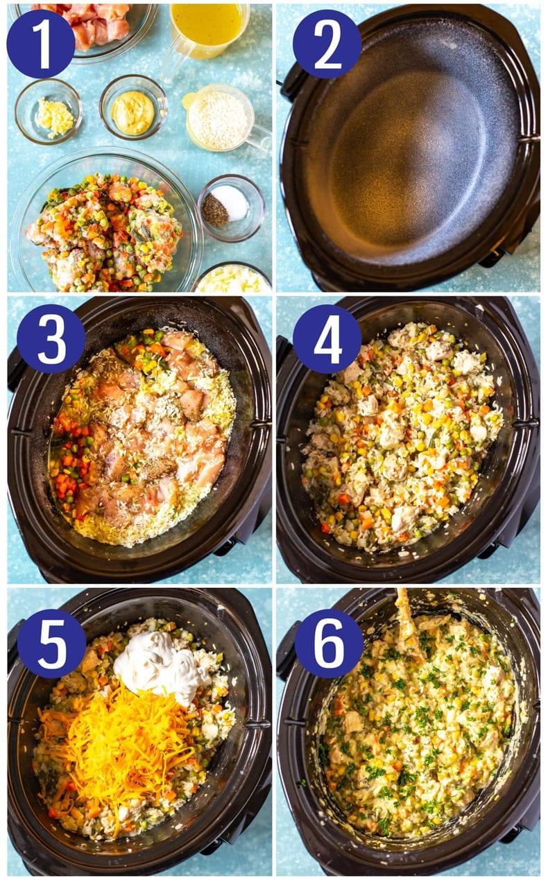 Creamiest Crockpot Chicken and Rice
