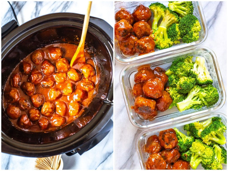 Honey Garlic BBQ Crockpot Meatballs