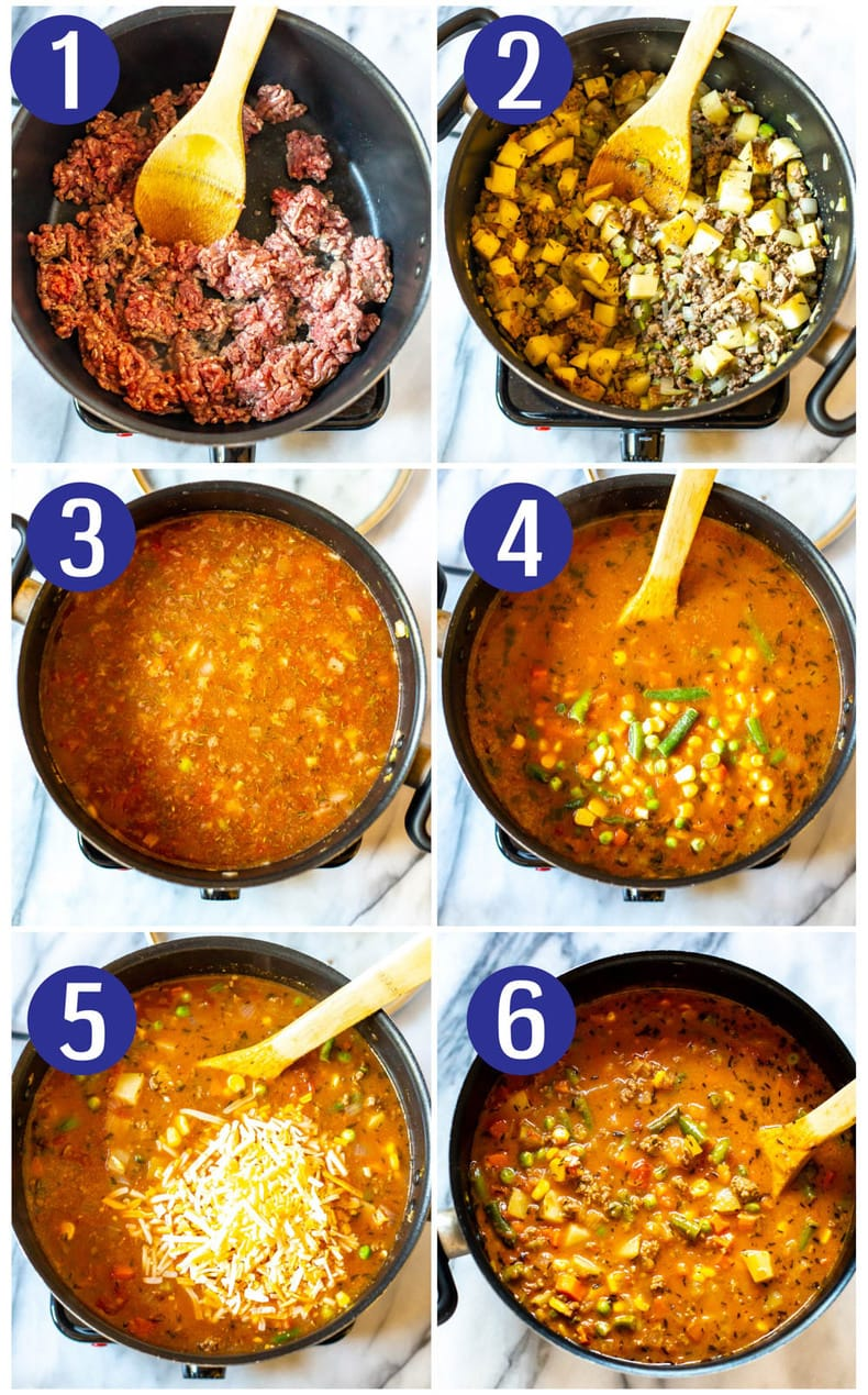 Ultimate One Pot Cheeseburger Soup