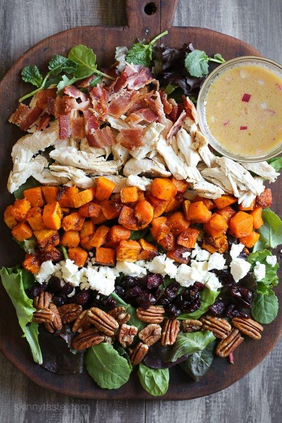Leftover turkey harvest cobb salad