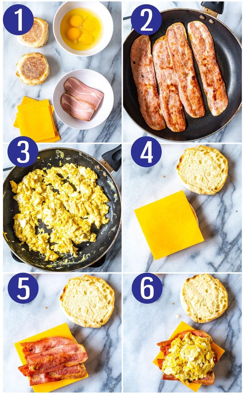 Breakfast Sandwich Recipes 3 Ways