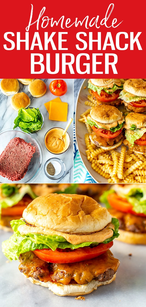 This Shake Shack Burger is a perfect copycat from your favorite burger joint, Shack sauce and all! These delicious burgers are surprisingly easy to make at home. #shakeshack #burger