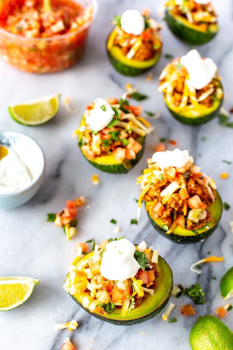 Low Carb Taco Stuffed Avocados