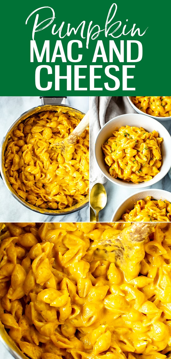 This is the Creamiest Pumpkin Mac and Cheese in existence! The secret to the extra creamy texture is evaporated milk - it's so perfect for the holidays. #pumpkin #macandcheese