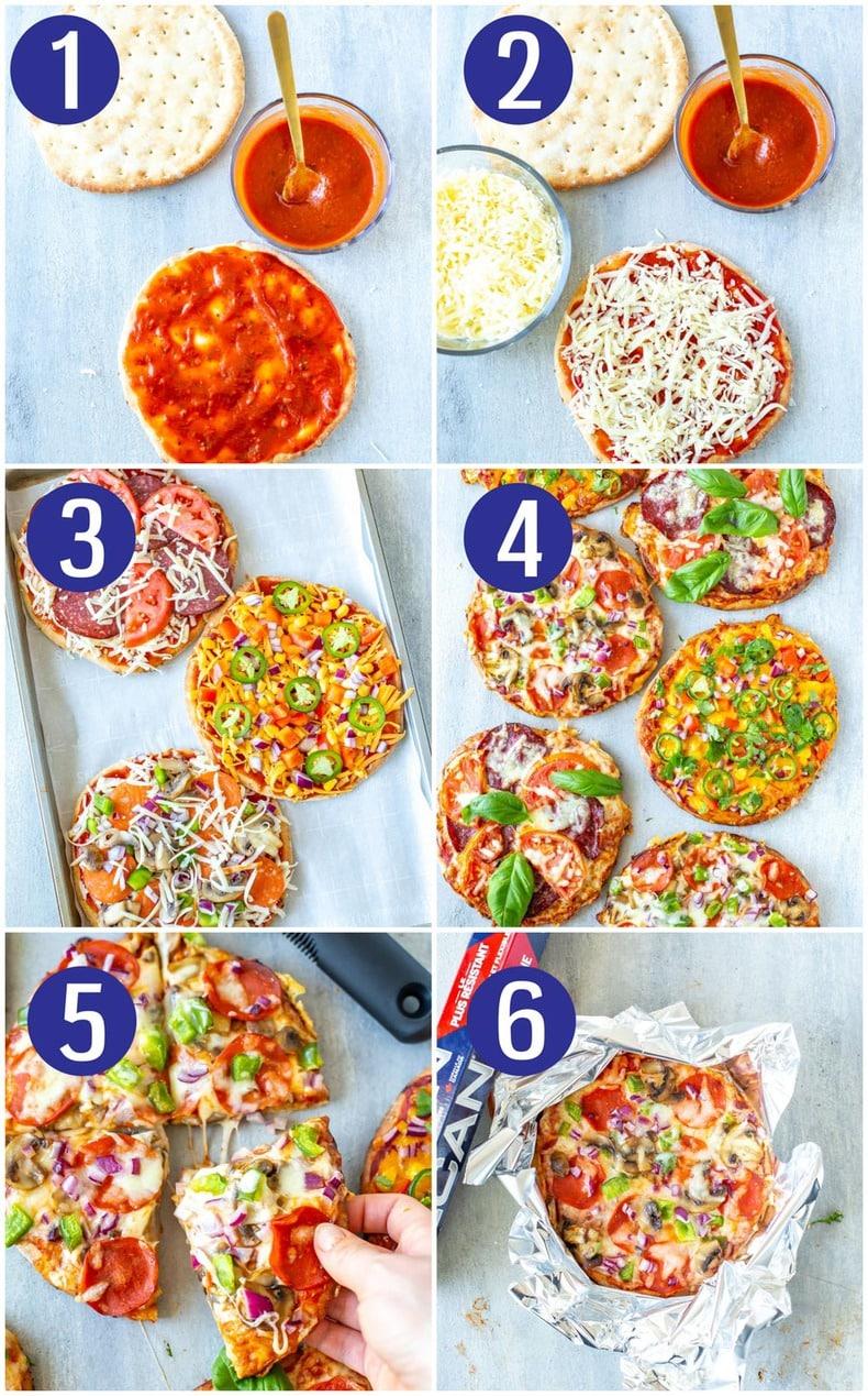 Pita Pizza 3 Ways