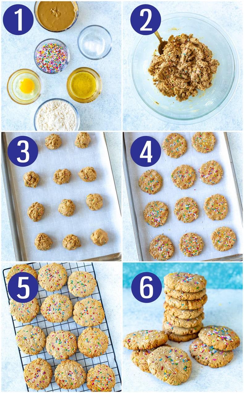 Nut-free Funfetti Protein Cookies