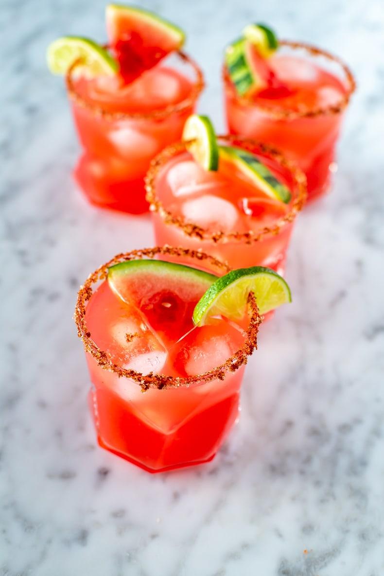 Skinny Watermelon Margarita
