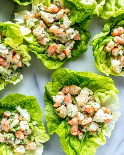 No Cook Shrimp Salad