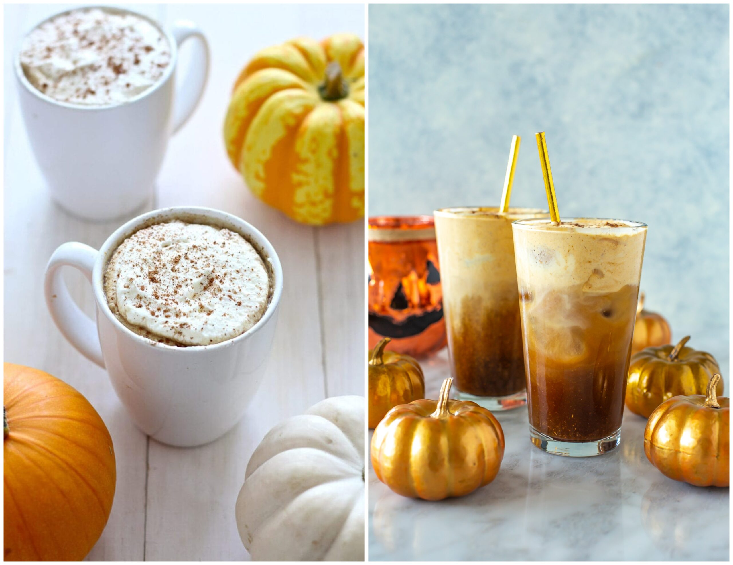 Starbucks pumpkin spice drinks