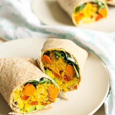 Chickpea, Sweet Potato & Avocado Freezer Wraps