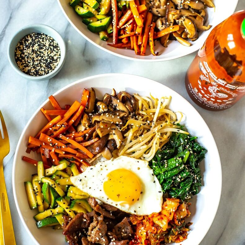 Easy Korean Bibimbap