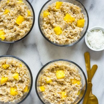 Pina Colada Instant Pot Steel Cut Oats