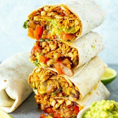 Pulled Chicken Burrito