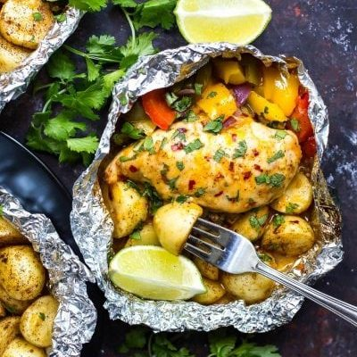 Southwest Chicken Foil Packets with Veggies