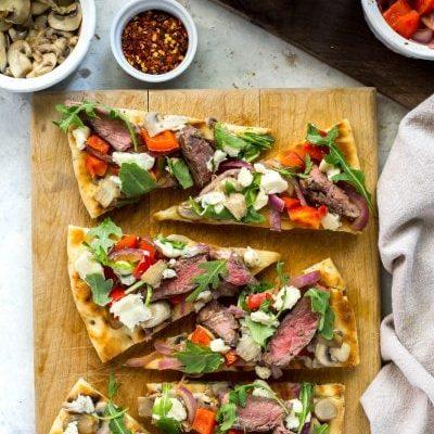 Easy Steak Gorgonzola Flatbread