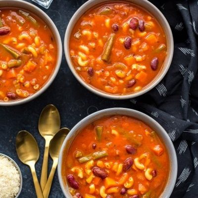 Super Easy Instant Pot Minestrone Soup