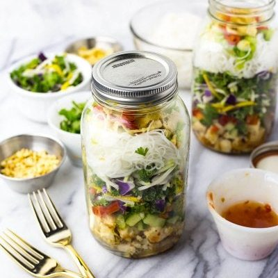 Sweet Chili Chicken Salad Jars